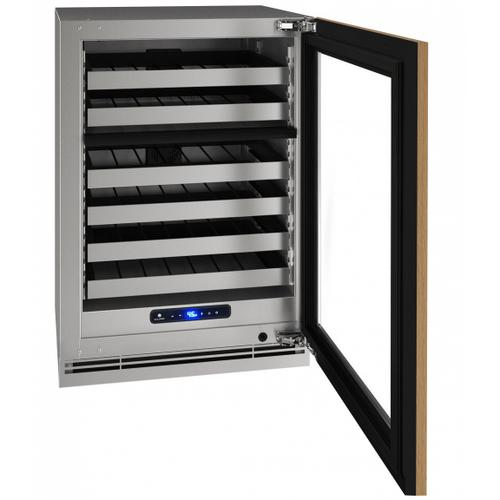 """U-Line - Hwd524 24"""" Dual-zone Wine Refrigerator With Integrated Frame Finish and Field Reversible Door Swing (115 V/60 Hz Volts /60 Hz Hz)"""