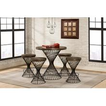 See Details - Kanister Counter Height 5 Piece Dining Set
