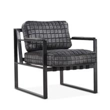 Portofino Leather Arm Chair Distressed Black