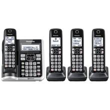 Link2Cell Bluetooth® Cordless Phone with Answering Machine - 4 Handsets - KX-TGF574S