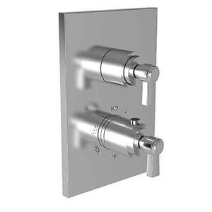 "Forever Brass - PVD 1/2"" Square Thermostatic Trim Plate with Handle Product Image"
