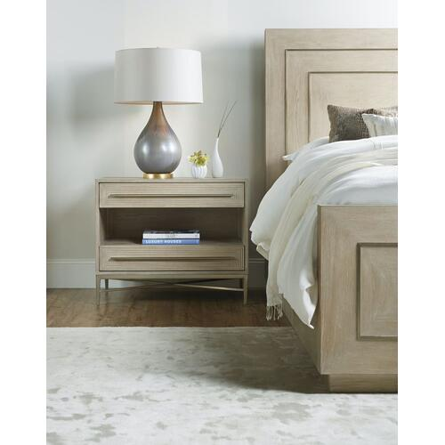 Bedroom Cascade Two-Drawer Nightstand