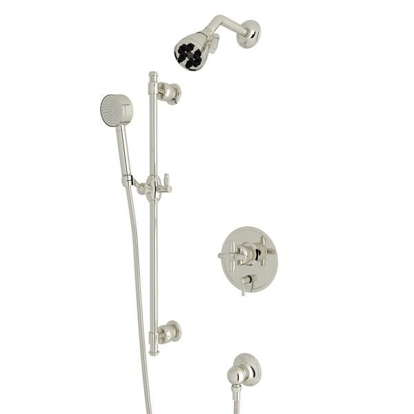 Polished Nickel Zephyr Pressure Balance Shower Package with Cross Handle Zephyr Series Only