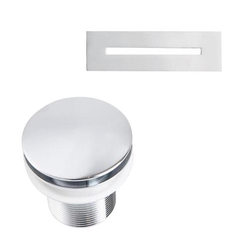 """Piper 71"""" Extra Wide Acrylic Tub with Integral Drain - Tap Deck - No Drillings / Polished Chrome Drain and Overflow"""