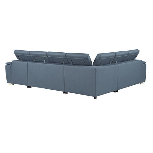 Gallery - 4-Piece Sectional with Pull-out Bed and Adjustable Headrests