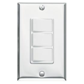 Broan-NuTone® 3-Function Control, 15 amp. 120V, Polished Chrome, White Controls