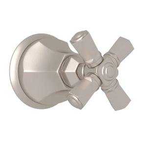 Palladian Trim for Volume Controls and Diverters - Satin Nickel with Cross Handle