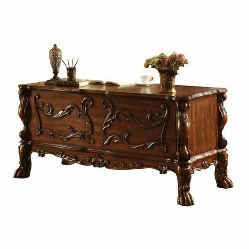 ACME Dresden Executive Desk - 12169 - Cherry Oak