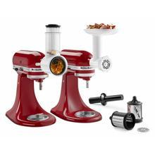 See Details - Food Grinder + Fresh Prep Slicer/Shredder Attachment Bundle - Other