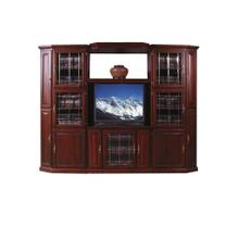 See Details - Forest Designs Traditional Three Piece Wall & TV Stand & Adjustable Shelf in Mahogany - 43w
