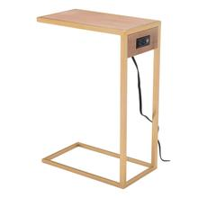 Ike Side Table Brown & Gold