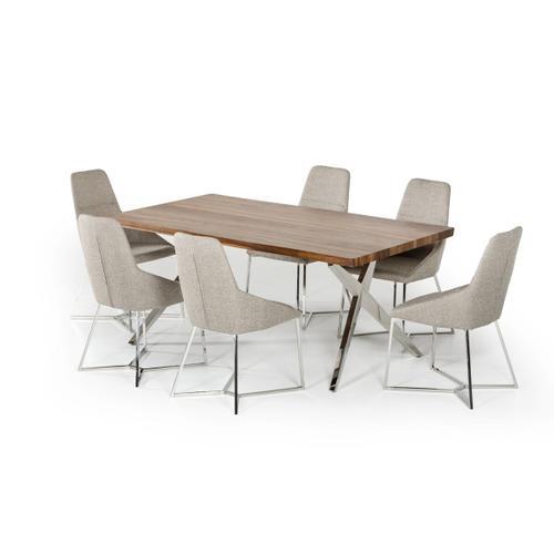 VIG Furniture - Modrest Stark Modern Walnut & Stainless Steel Dining Table
