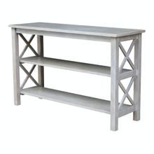 View Product - Hampton Sofa Table in Taupe Gray