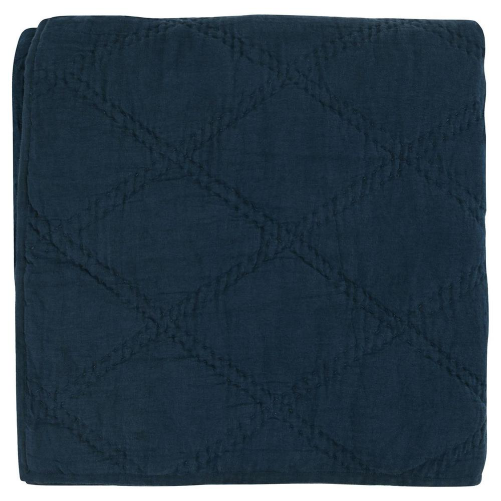 See Details - Caleb Hand Stitched Midnight Blue Queen Quilt