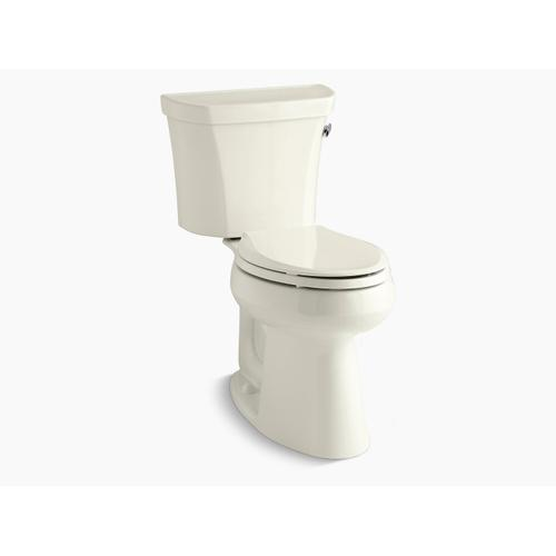 """Kohler - Biscuit Two-piece Elongated 1.28 Gpf Chair Height Toilet With Right-hand Trip Lever, Tank Cover Locks, Insulated Tank and 10"""" Rough-in"""