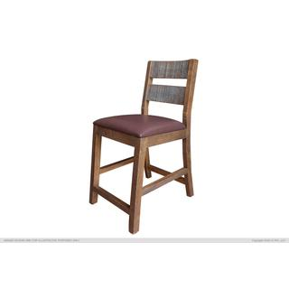 """See Details - 24"""" Barstool - With Faux Leather seat"""