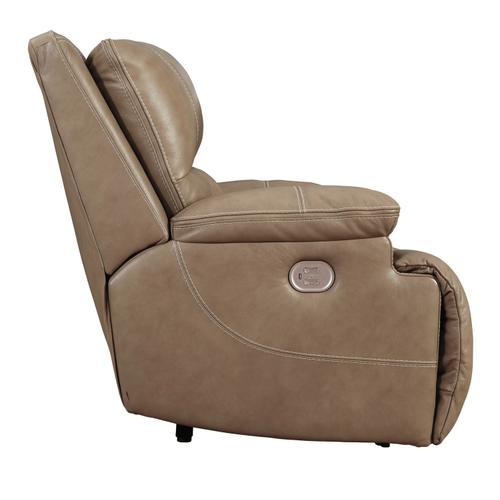 Ricmen Wide Seat Power W/Adj Hdrst Recliner Putty
