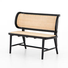 Leanna Bench-warm Wheat Rattan