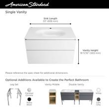 Studio S 33 in. Double-Drawer Bathroom Vanity  American Standard - White