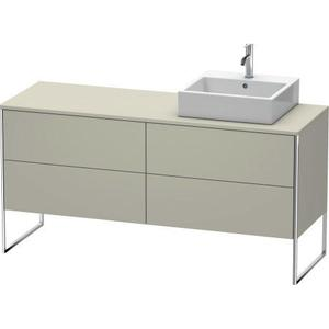 Vanity Unit For Console Floorstanding, Taupe Satin Matte (lacquer)
