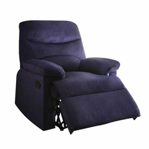 ACME Arcadia Recliner - 00700 - Blue Fabric