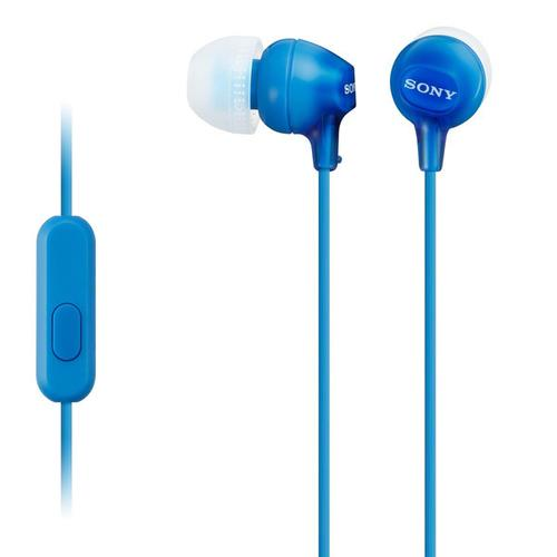 Sony - Wired In-ear Headphones with Microphone - Blue
