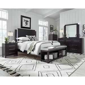 King Complete Storage Bed - Midnight Finish
