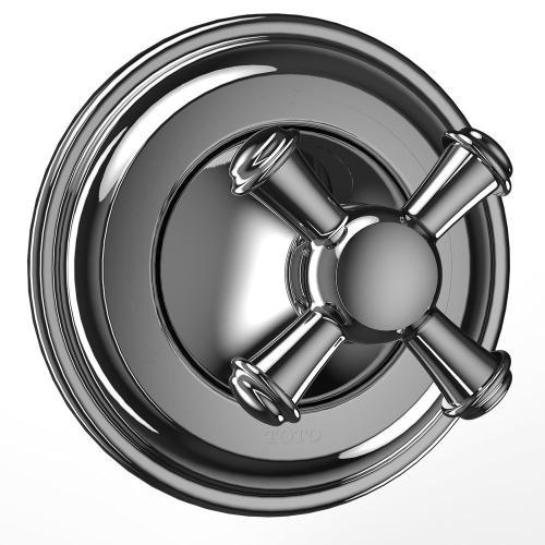 Vivian™ Three-way Diverter Trim- Cross Handle - Polished Chrome Finish