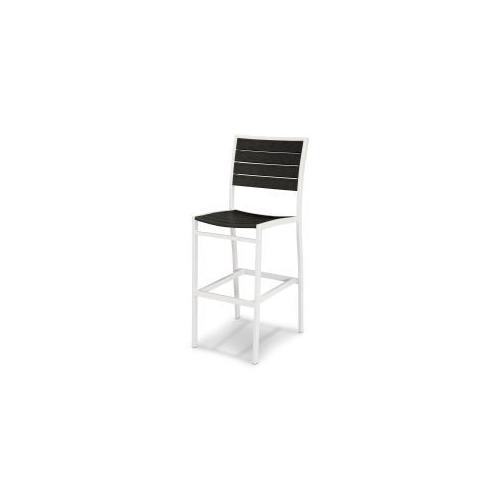 Polywood Furnishings - Eurou2122 Bar Side Chair in Satin White / Black