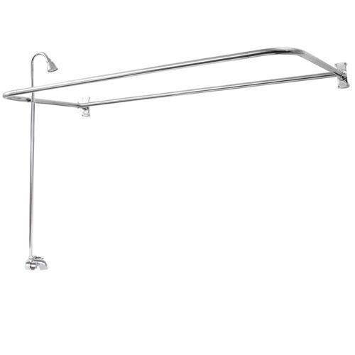 "Rectangular ""D"" Shower Unit - Polished Chrome / 48"" x 26"""