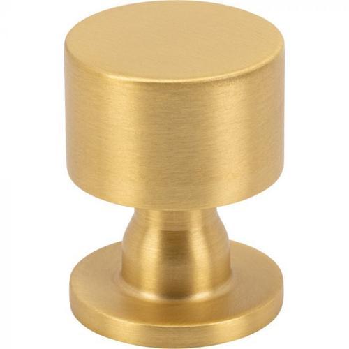 Vesta Fine Hardware - Dante Knob 1 Inch Satin Brass Satin Brass
