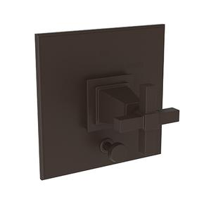 Oil Rubbed Bronze Balanced Pressure Tub & Shower Diverter Plate with Handle
