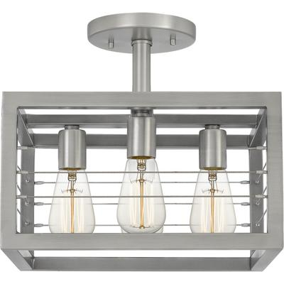 See Details - Awendaw Semi-Flush Mount in Antique Nickel