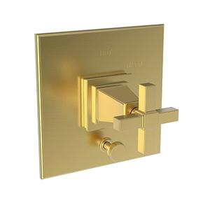 Satin Gold - PVD Balanced Pressure Tub & Shower Diverter Plate with Handle