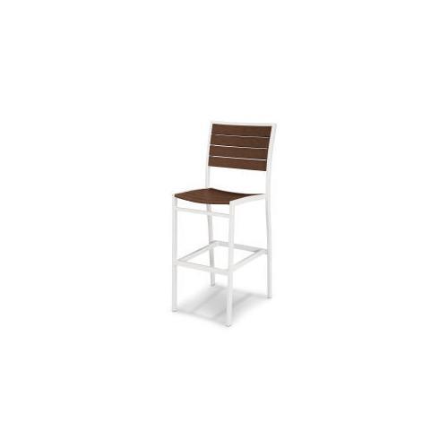 Polywood Furnishings - Eurou2122 Bar Side Chair in Satin White / Mahogany
