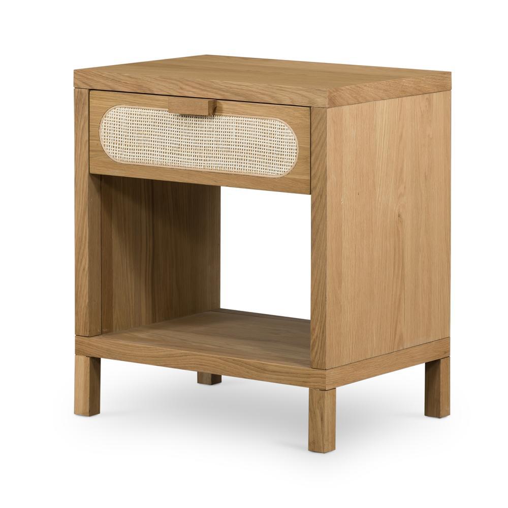 Allegra Nightstand-honey Oak Veneer