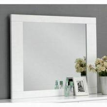 ACME Lorimar Mirror - 22634 - White & Chrome Leg