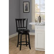 See Details - Presque Isle Swivel Counter Height Stool - Black