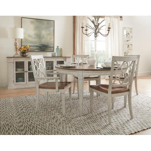 Hooker Furniture - Montebello 56in Round Dining Table w/ 1-18in leaf