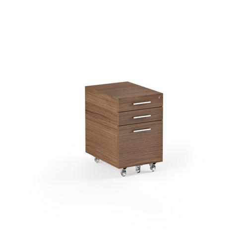 Low Mobile File Pedestal 6007 2 in Natural Walnut