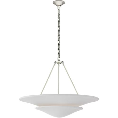 AERIN Mollino 6 Light 33 inch Polished Nickel Tiered Chandelier Ceiling Light, Large