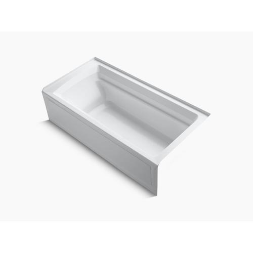 "White 72"" X 36"" Alcove Bath With Bask Heated Surface, Integral Apron, and Right-hand Drain"