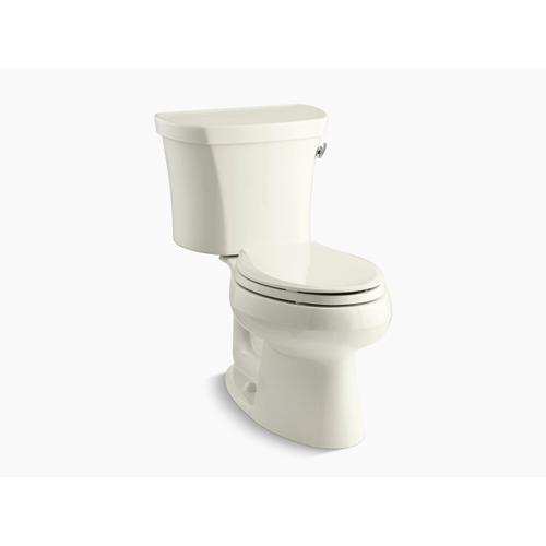 """Kohler - Biscuit Two-piece Elongated 1.28 Gpf Toilet With Right-hand Trip Lever, Insulated Tank and 14"""" Rough-in"""