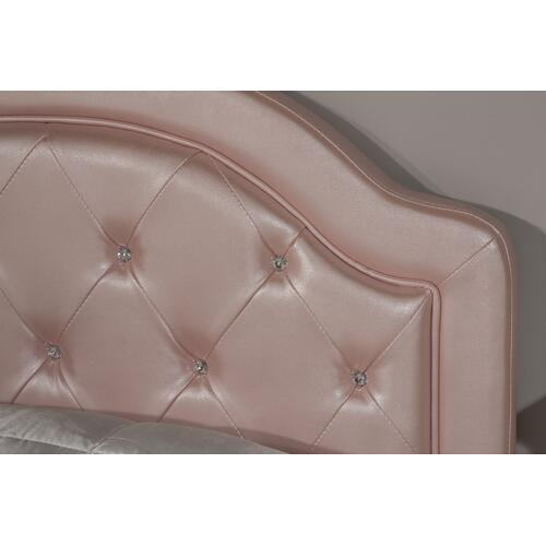 Karley Twin-size Headboard, Pink Faux Leather