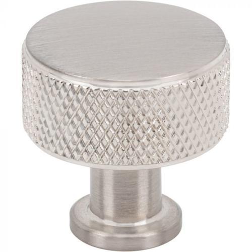 Vesta Fine Hardware - Beliza Cylinder Knurled Knob 15/16 Inch Brushed Satin Nickel Brushed Satin Nickel
