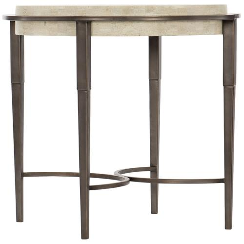 Barclay Metal Round Chairside Table