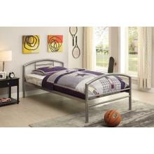 View Product - Baines Casual Silver Twin Bed