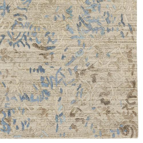 Goa Garden Blue Slate Hand Loomed Area Rugs
