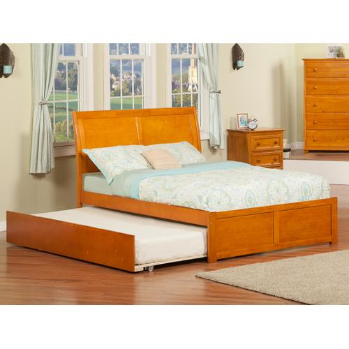 Portland Full Flat Panel Foot Board with Urban Trundle Caramel Latte