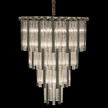 Chimes 18 Light Chandelier 2 PC Set Silver
